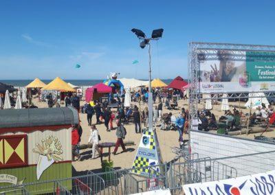 Festival vanaf de boulevard